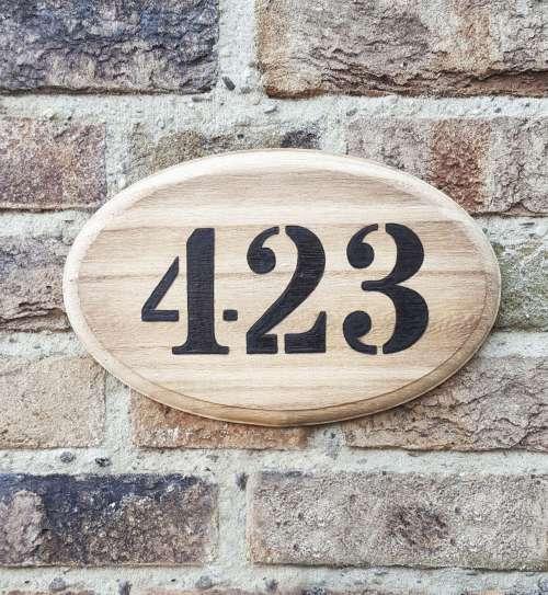 Huisnummerbord industrieel